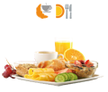 Hier finden Sie Frühstücksbuffet- Brunch-Buffet – per APP und Web