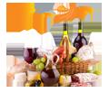 Feinschmecker-Lebensmittel, Spezialitäten, kulinarische Delikatessen und Feinkost zum Mitnehmen
